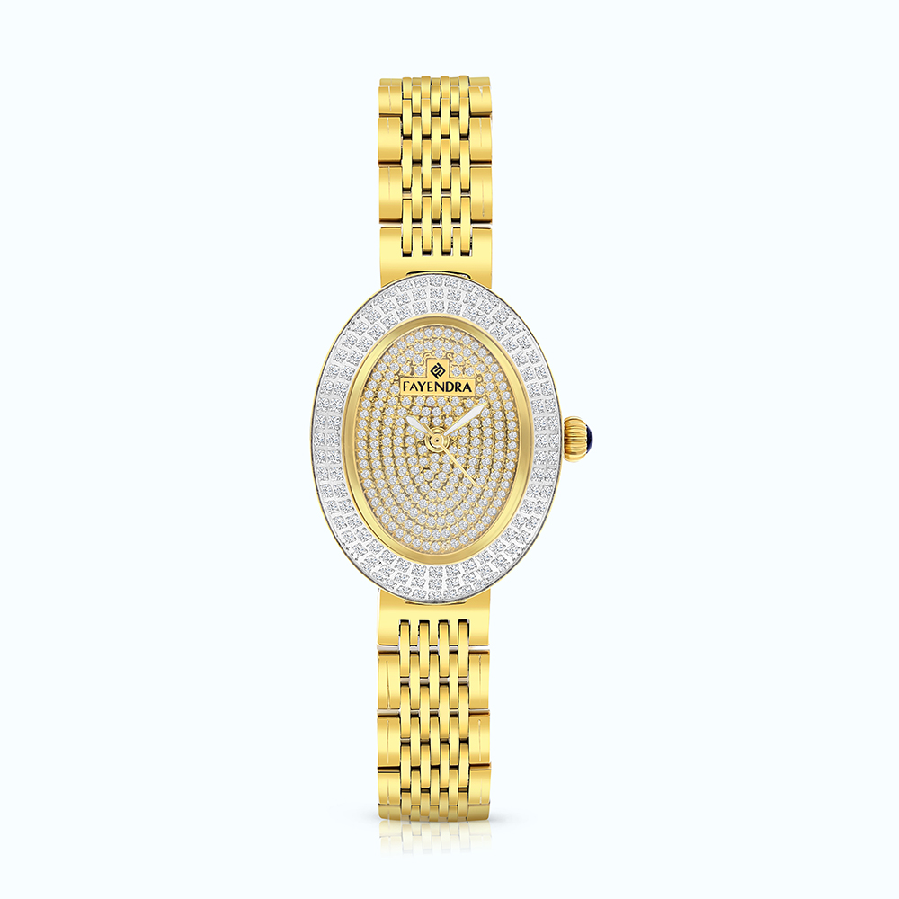 Stainless Steel 316L Watch Gold Plated  WCZ Dial
