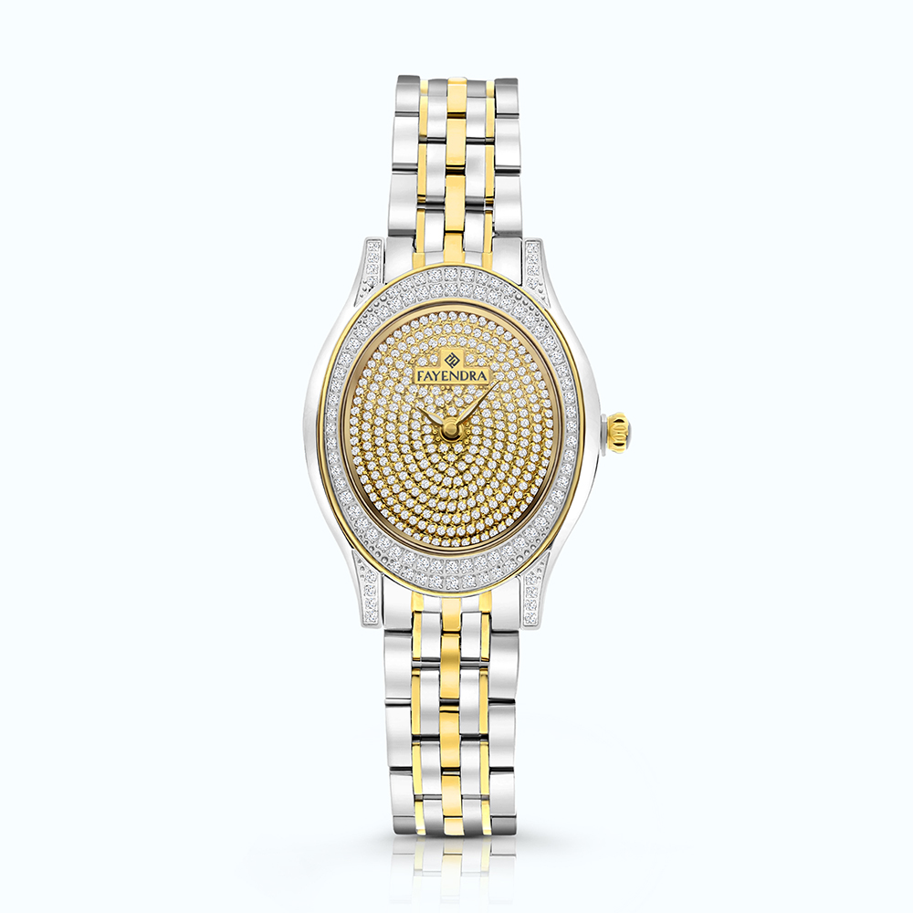 Stainless Steel 316L Watch Rhodium And Gold Plated  WCZ Dial