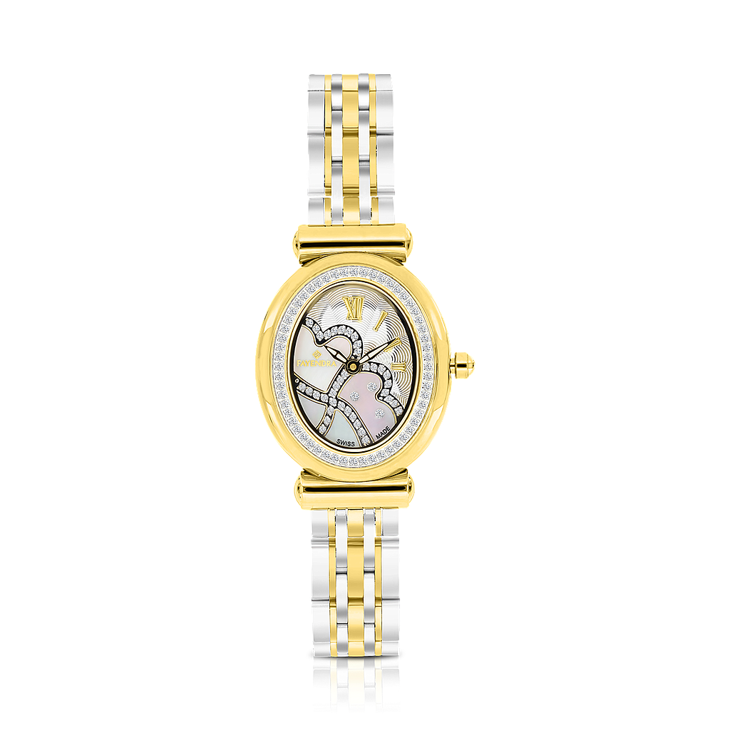 Stainless Steel 316L Watch Gold Plated, MOP Dial