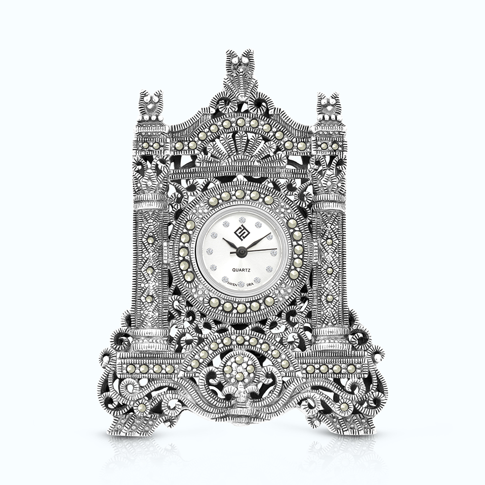 Sterling Silver 925 Watch Embedded With Marcasite Stones
