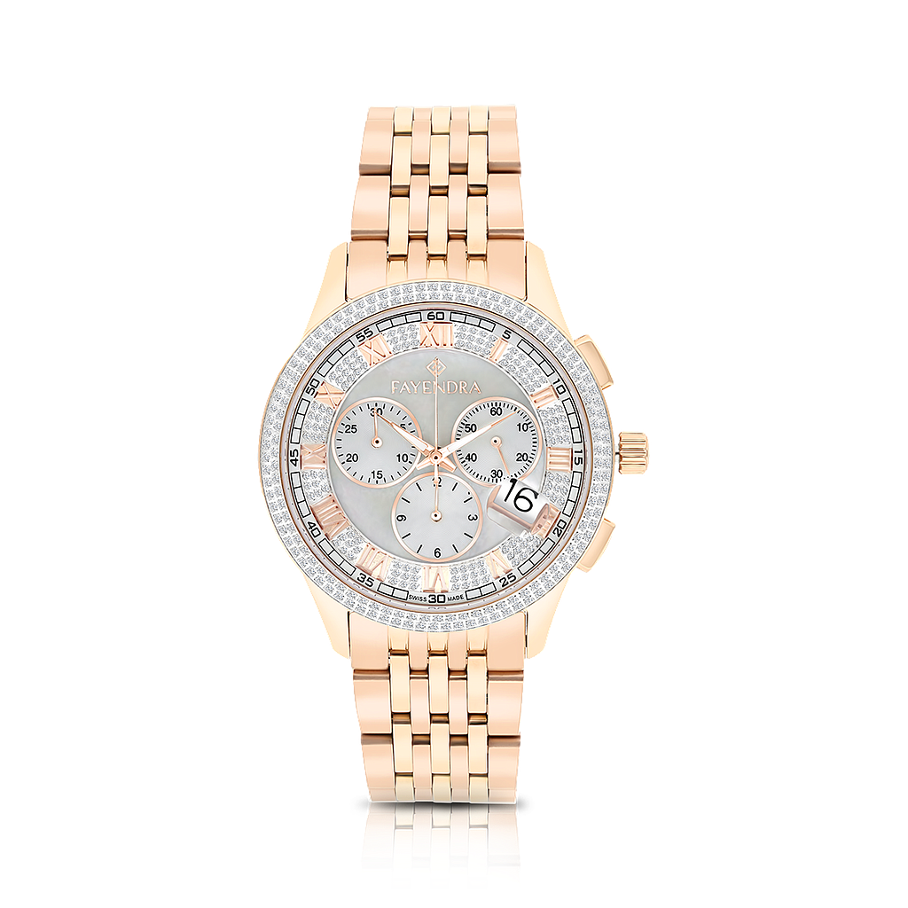 Stainless Steel 316L Watch, Rose Gold Plated, MOP Dial ,For Men