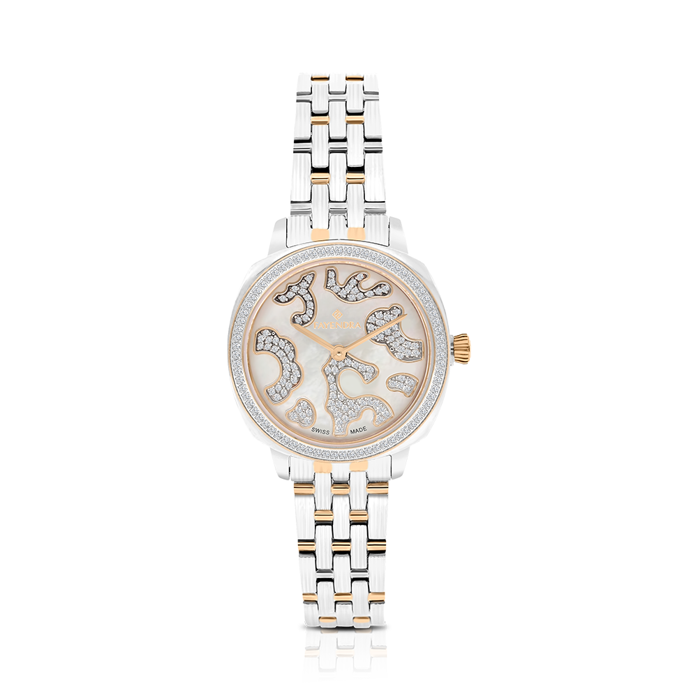Stainless Steel 316L Watch,Rhodium,Rose Plated,MOP Dial,For Women