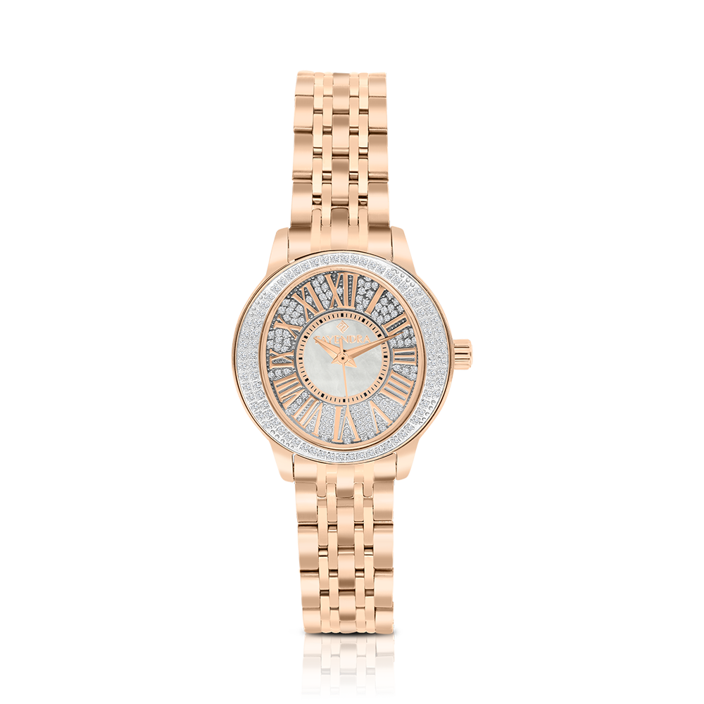 Stainless Steel 316L Watch Rose Plated, MOP Dial ,For Women