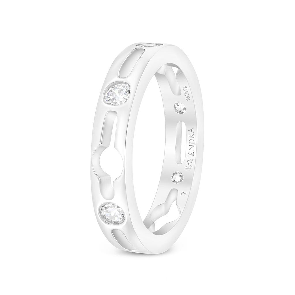 Sterling Silver 925 Ring Rhodium Plated