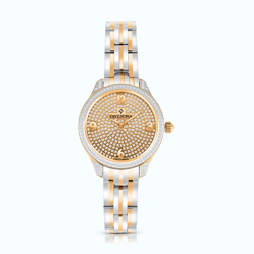 Stainless Steel 316L Watch Rhodium And Rose Plated  ROSE-WCZ Dial