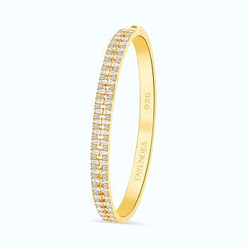 Sterling Silver 925 Bangle Gold Plated