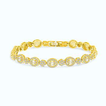 Sterling Silver 925 Bracelet Gold Plated