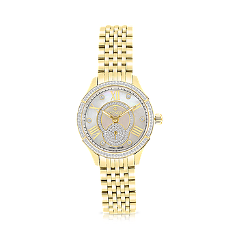 Stainless Steel 316L Watch Gold Plated, MOP Dial ,For Women