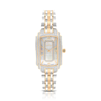 Stainless Steel 316L Watch,Rhodium,Rose Plated,For Women,MOP Dial