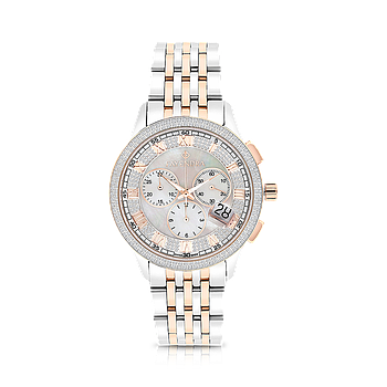 Stainless Steel 316L Watch,Rhodium,Rose Plated,MOP Dial,For Men