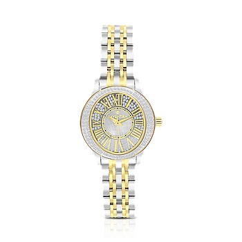 Stainless Steel 316L Watch Rhodium Gold Plated MOP Dial For Women
