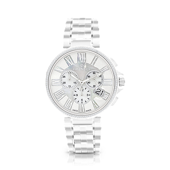 Stainless Steel 316L Watch Rhodium Plated, MOP Dial ,For Men