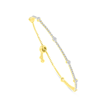 Sterling Silver 925 Bracelet Rhodium And Gold Plated