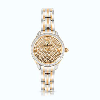 Stainless Steel 316L Watch Rhodium And Rose Plated, ROSE-WCZ Dial